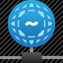 database, hardware, hosting, server, stable connection, storage, worldwide icon