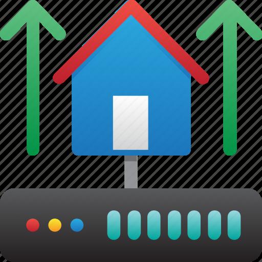 connection up, database, hardware, home server, hosting, server, storage icon