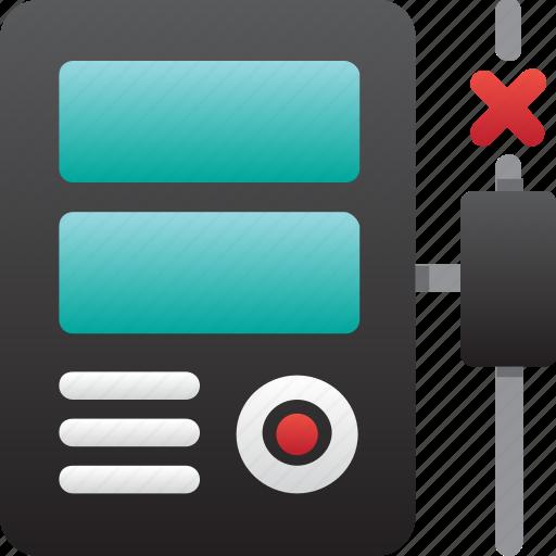 computer, database, error connection, hardware, hosting, server, storage icon