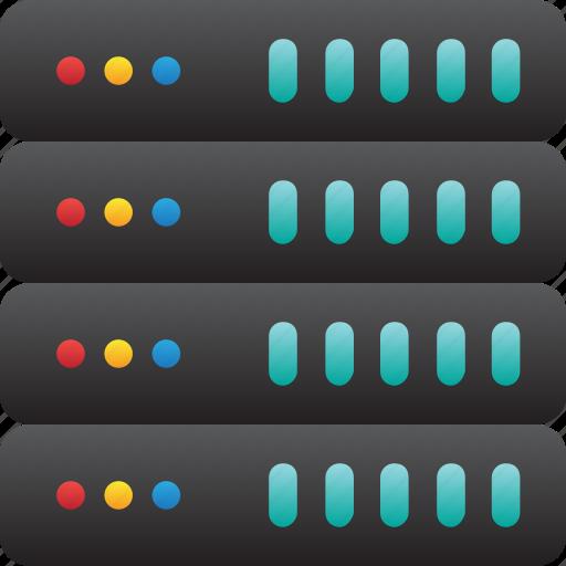 database, hardware, hosting, modem, server, storage icon