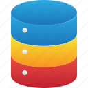 database, hardware, hosting, server, storage icon