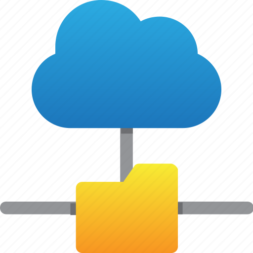 cloud, database, folder connection, hardware, hosting, server, storage icon
