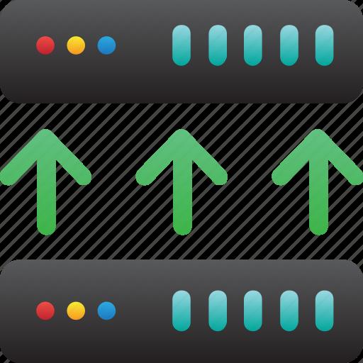 connection up, database, hardware, hosting, modem, server, storage icon