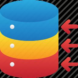 connection, database, hardware, hosting, move, server, storage icon
