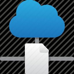 cloud, database, file connection, hardware, hosting, server, storage icon