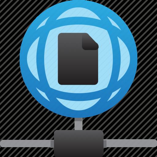 database, file, hardware, hosting, server, storage, worldwide icon