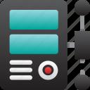 computer, connection, database, hardware, hosting, server, storage icon