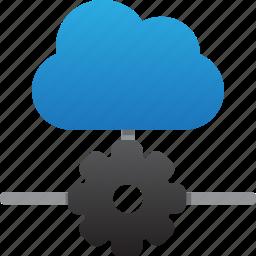 cloud, database, hardware, hosting, maintenance, server, storage icon
