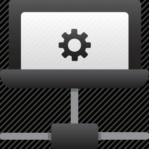 database, hardware, hosting, laptop, maintenance, server, storage icon