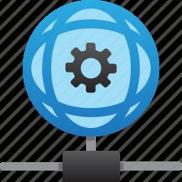database, hardware, hosting, maintenance, server, storage, worldwide icon
