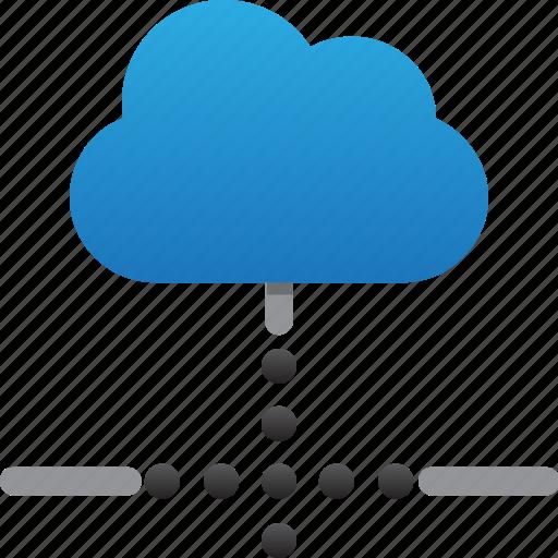 cloud, database, hardware, hosting, loading connection, server, storage icon