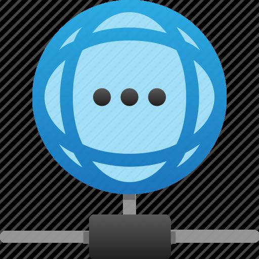 database, hardware, hosting, loading connection, server, storage, worldwide icon