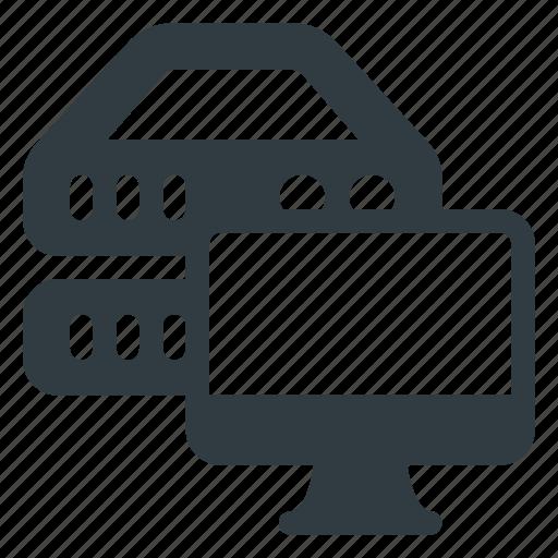 data, database, monitor, server, storage, view icon