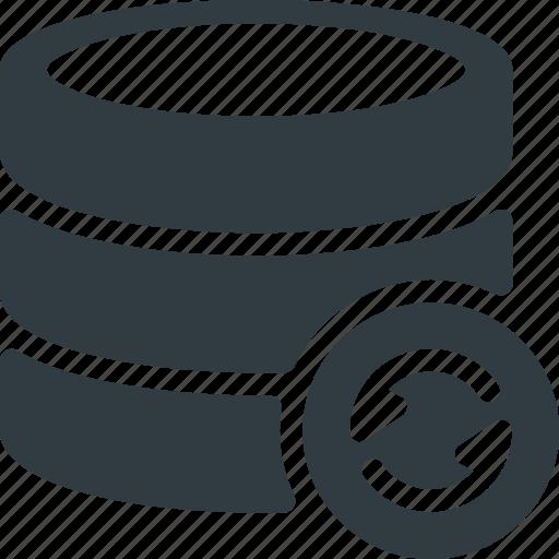 Data, database, storage, refresh, server icon