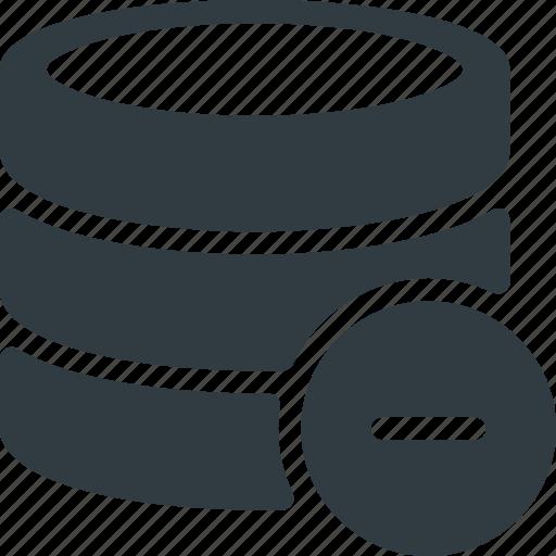Data, database, remove, server, storage icon - Download on Iconfinder