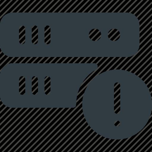 alert, data, database, server, store icon