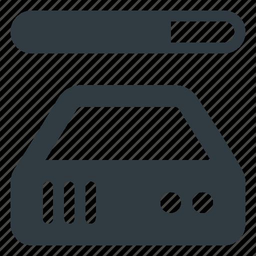 Bandwidth, data, database, server, store icon - Download on Iconfinder