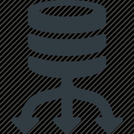 Load, database, server, balance, data, store icon