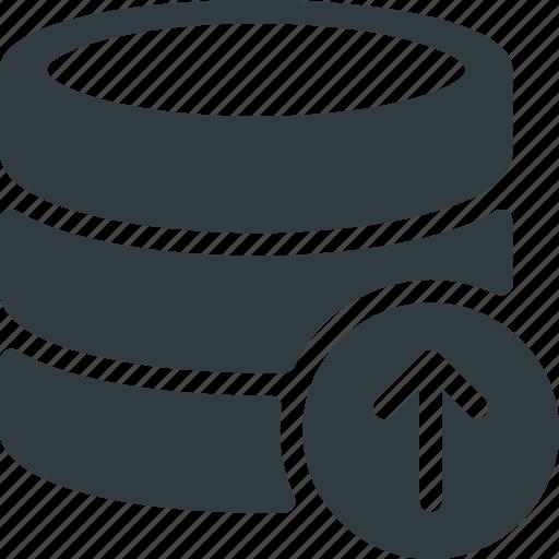 data, database, server, store, upload icon