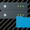 data, database, folder, server, storage