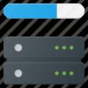 bandwidth, data, database, server, store icon
