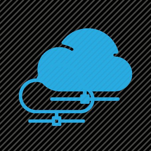 cloud, data, database, network, server, storage icon