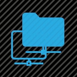 data, database, folder, network, server, storage icon