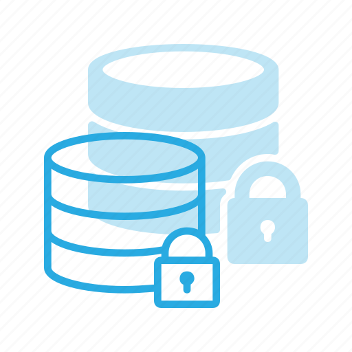 data, database, lock, server, storage icon
