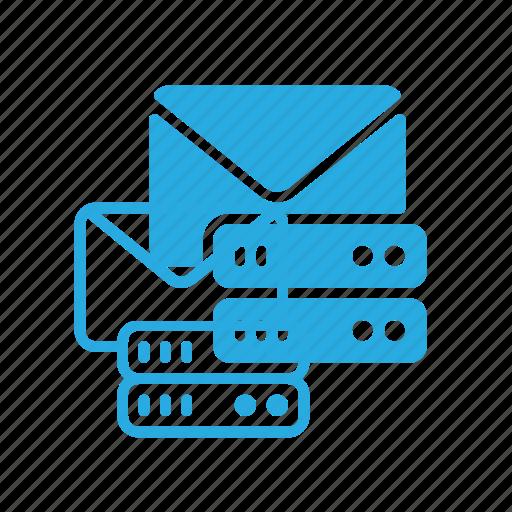 data, database, mail, server, storage icon