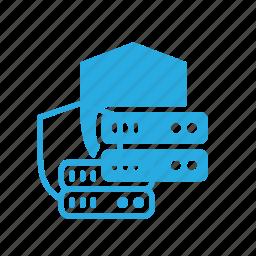 data, database, protection, server, storage icon