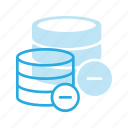 data, database, remove, server, storage icon