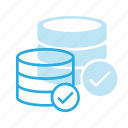 check, data, database, server, store icon