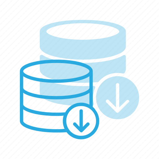 data, database, download, server, store icon