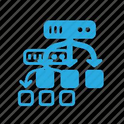 balance, data, database, load, server, store icon