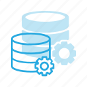 data, database, server, settings, store icon