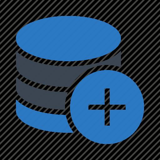 add, database, plus, server, storage icon