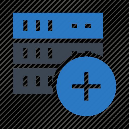 add, database, mainframe, server, storage icon
