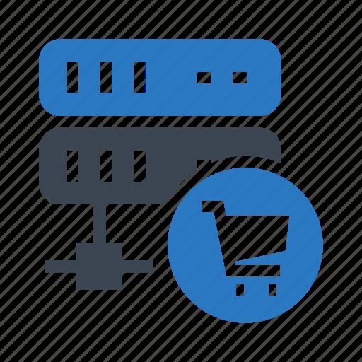 cart, datacenter, mainframe, server, storage icon