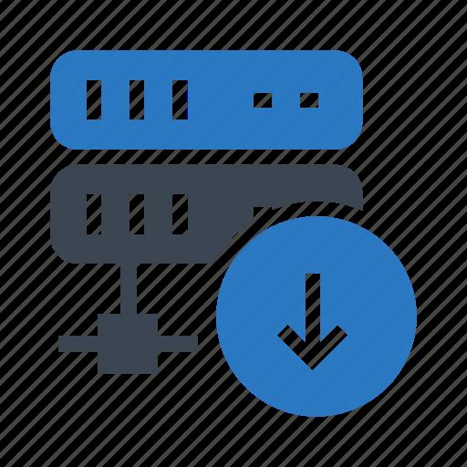 database, datacenter, download, server, storage icon