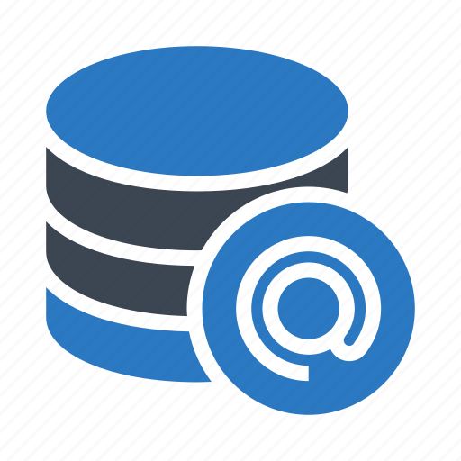 database, mail, mainframe, server, storage icon