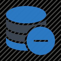 database, mainframe, remove, server, storage icon