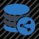 connect, database, datacenter, server, share