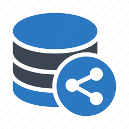 connect, database, datacenter, server, share icon