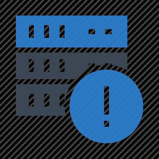 Database, error, exclamation, server, storge icon - Download on Iconfinder