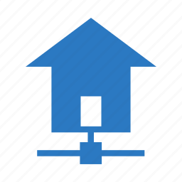 estate, home, house, network, share icon