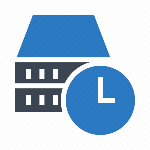clock, database, datacenter, server, time icon