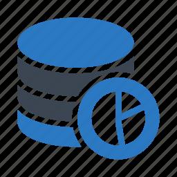 chart, graph, mainframe, server, storage icon