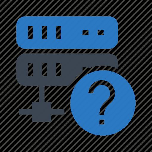 database, datacenter, help, mainframe, server icon
