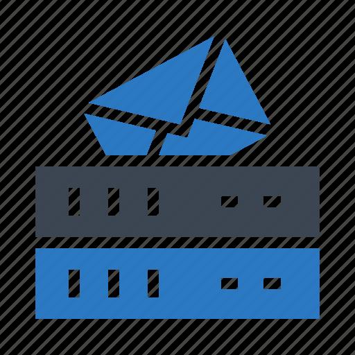 database, mainframe, message, server, storage icon