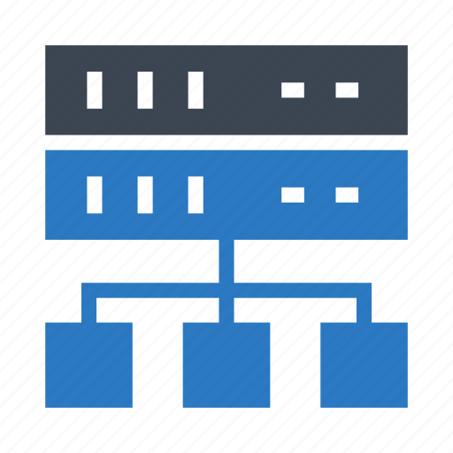 database, mainframe, network, server, storage icon